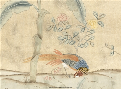Trevarez Antiqued Tropical Chinoiserie