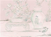 Porcelains Diptych Rose