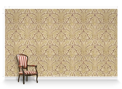 Allouette Curry Repeat Pattern Textured Wall Covering