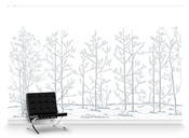 Winter Forest with chair