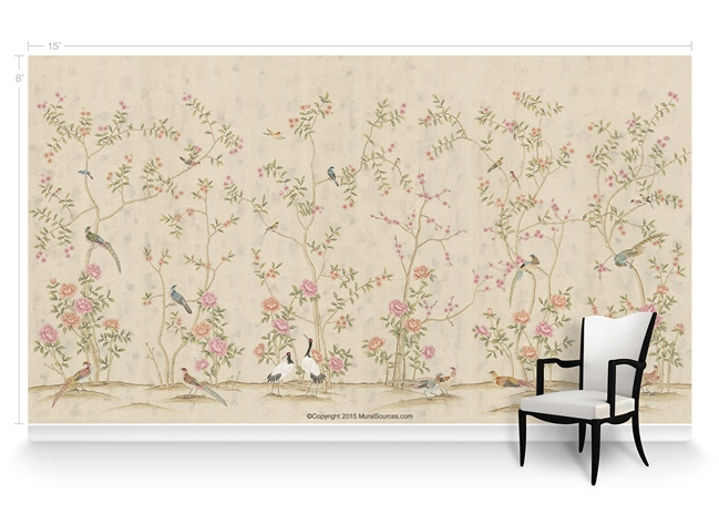 Maysong fresco chinoiserie mural wallpaper for Chinoiserie wall mural