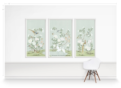 Maysong Mint Triptych