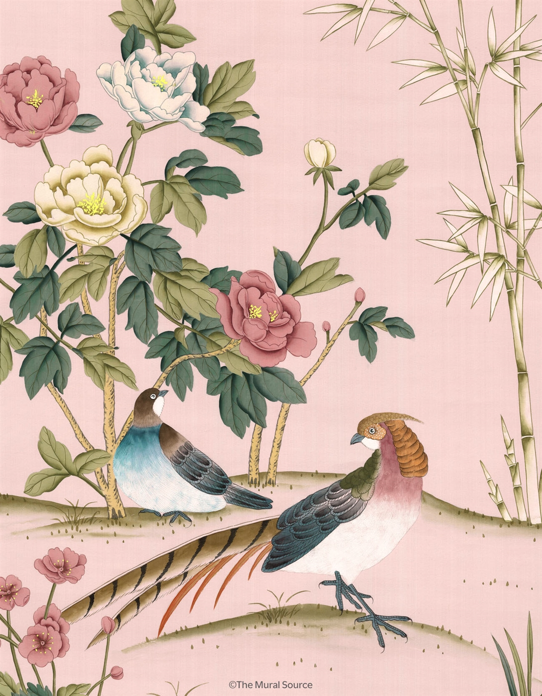 Imperial garden chinoiserie mural wallpaper for Chinoiserie wall mural