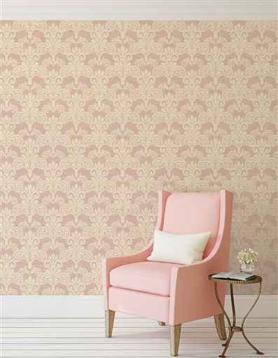 Damask 3 Repeat Pattern Textured Wall Covering