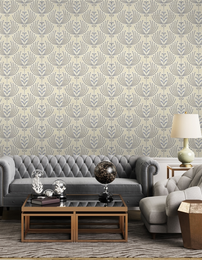 Damask 5 Repeat Pattern Textured Wall Covering