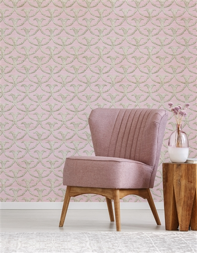 Damask 6 Repeat Pattern Textured Wall Covering