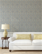 Damask 7 Repeat Pattern Textured Wall Covering
