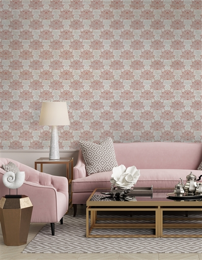 Damask 8 Repeat Pattern Textured Wall Covering