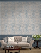Antique Damask 1 Repeat Pattern Textured Wall Covering