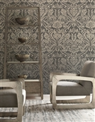 Grand Damask Repeat Pattern Textured Wall Covering