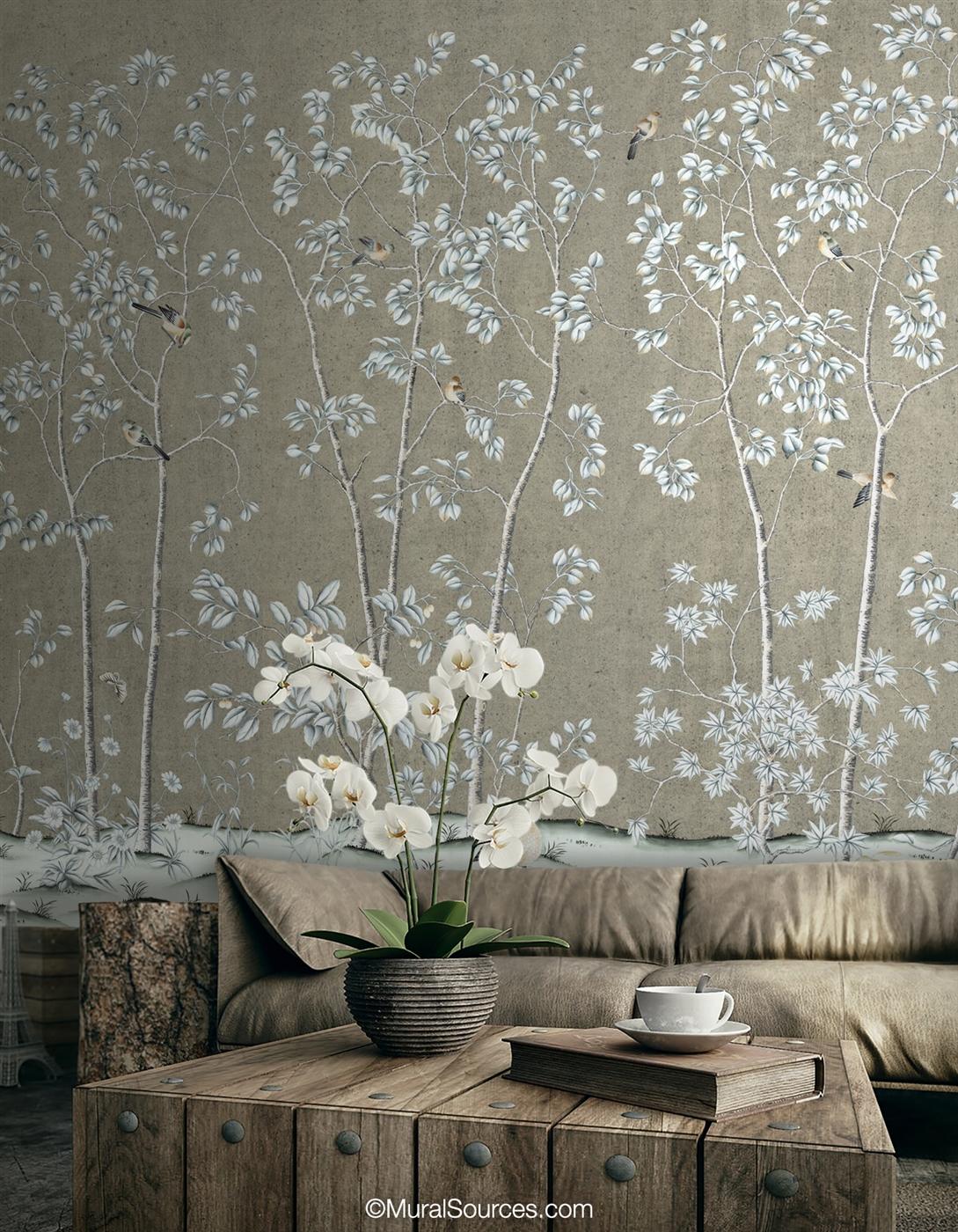 High Grove Steel Wallpaper
