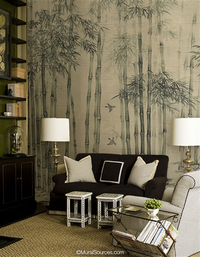 Ink Brush Chinoiserie Wallpaper