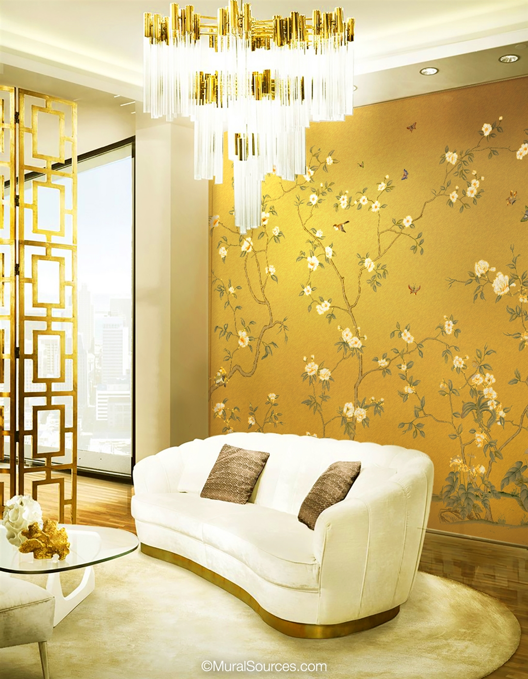 Palazzo Gold Chinoiserie Mural Wallpaper Muralsources Com