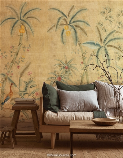 Trevarez Antiqued Chinoiserie Wallpaper