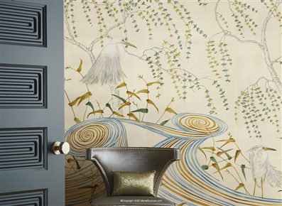 Japanese Art Deco Mural