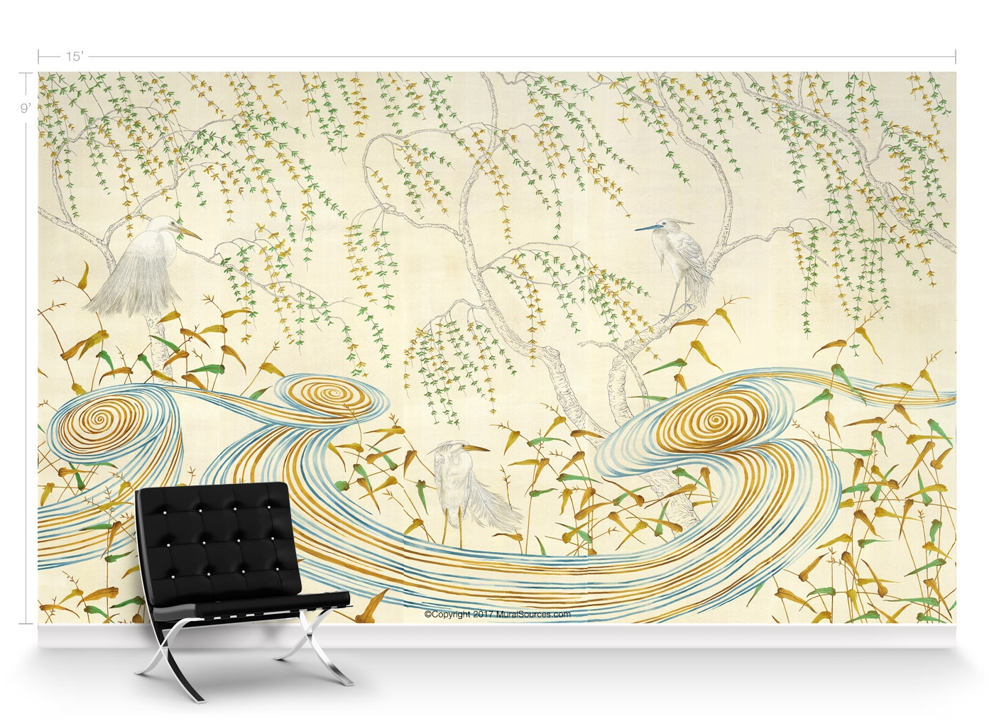 Kimono Japanese Art Deco | Chinoiserie Mural Wallpaper ...