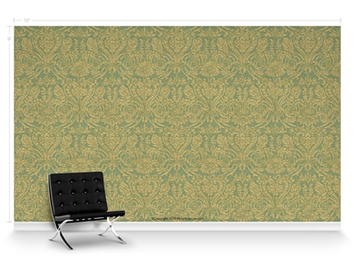 Grand Damask Cypress Repeat Pattern Textured Wall Covering