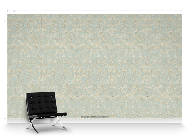 Grand Damask Florence Repeat Pattern Textured Wall Covering