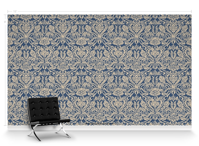 Grand Damask France Repeat Pattern Textured Wall Covering