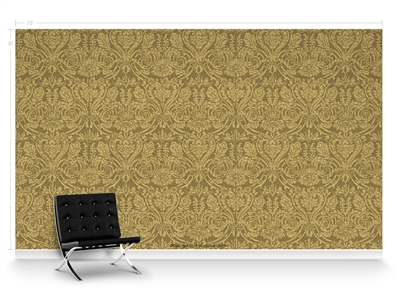 Grand Damask Gold Repeat Pattern Textured Wall Covering