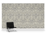 Grand Damask Travertine Repeat Pattern Textured Wall Covering