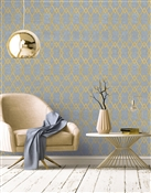 Diamond Repeat Pattern Textured Wall Covering