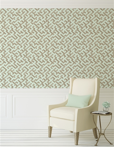 A Mazing Repeat Pattern Textured Wall Covering