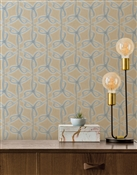 Dancing Star Repeat Pattern Textured Wall Covering