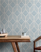 Diamond Leaf Repeat Pattern Textured Wall Covering