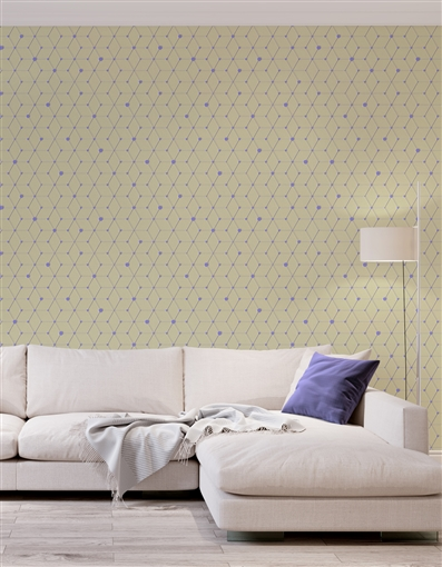 Dot Diamond Repeat Pattern Textured Wall Covering