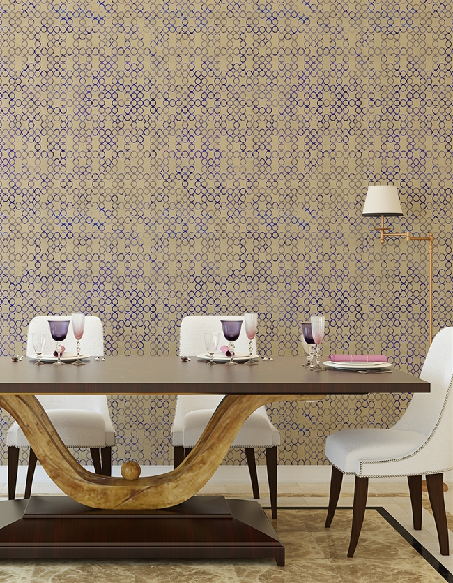 Ovals Repeat Pattern Textured Wall Covering