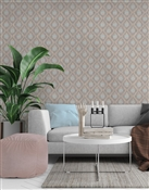Ikat 2 Repeat Pattern Textured Wall Covering
