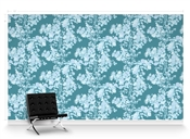 Kiku Aqua Journey Repeat Pattern Textured Wall Covering