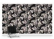 Kiku Moonlight Repeat Pattern Textured Wall Covering