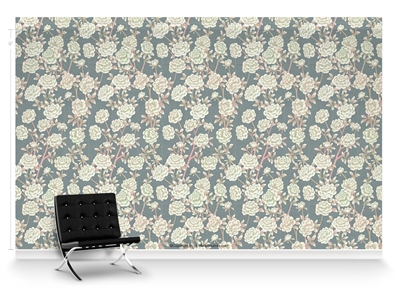 Lavish Peonies Como Repeat Pattern Textured Wall Covering
