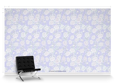 Lavish Peonies Paris Repeat Pattern Textured Wall Covering
