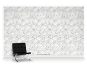 Lavish Peonies Pencil Repeat Pattern Textured Wall Covering