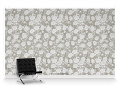 Lavish Peonies Taihu Repeat Pattern Textured Wall Covering