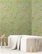 Lavish Peonies  Repeat Pattern Textured Wall Covering