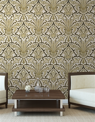 Allouette Repeat Pattern Textured Wall Covering