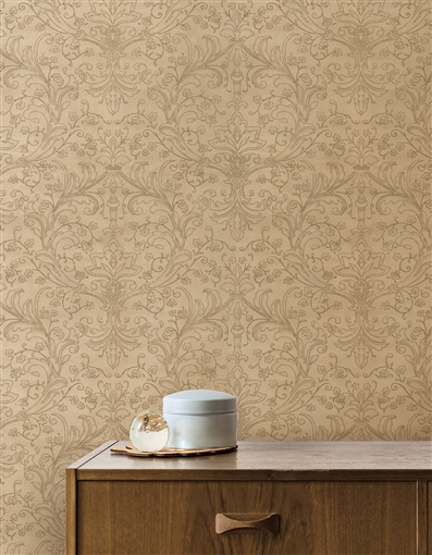 Lily Repeat Pattern Textured Wall Covering
