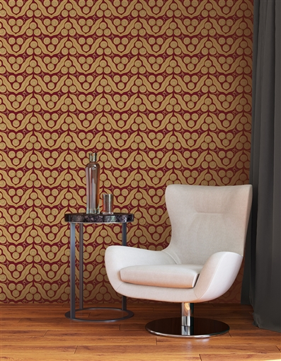 Ottoman 1 Repeat Pattern Textured Wall Covering