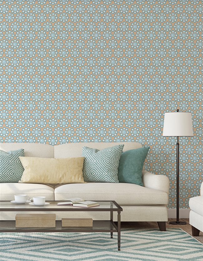 Ottoman 2 Repeat Pattern Textured Wall Covering