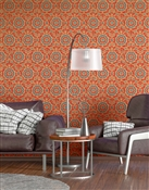 Ottoman 3 Repeat Pattern Textured Wall Covering