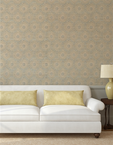 Ottoman 4 Repeat Pattern Textured Wall Covering