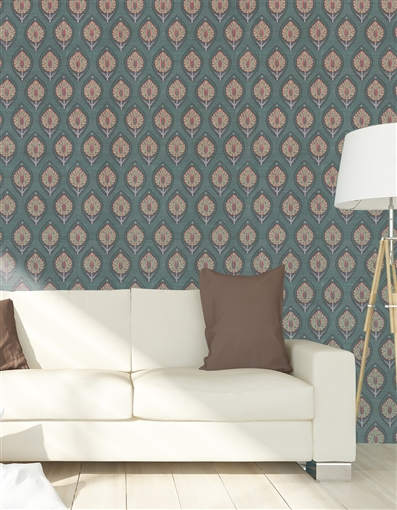 Ottoman 8 Repeat Pattern Textured Wall Covering