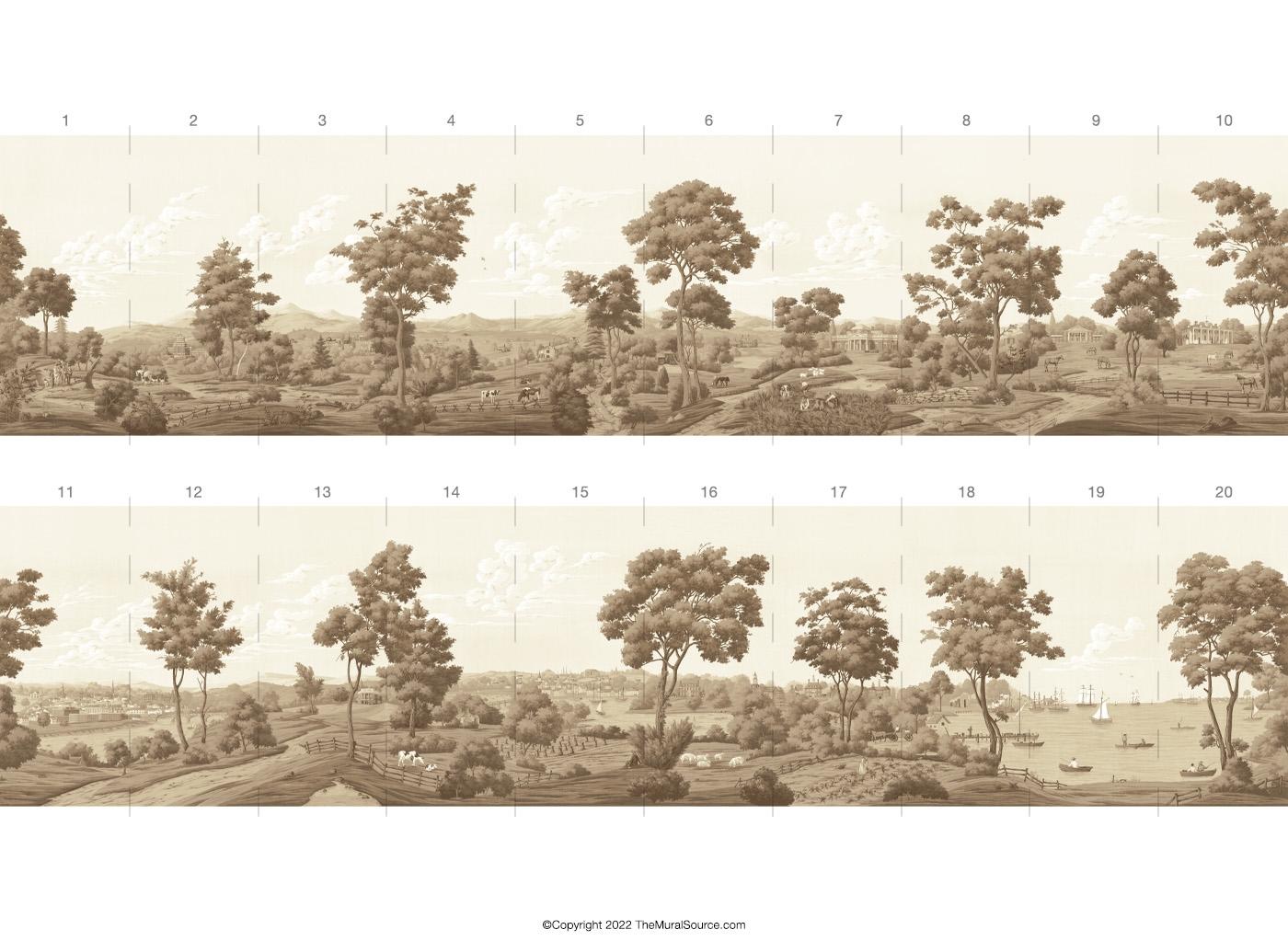 virginia mural americana worldviews wallpaper muralsources comsamples