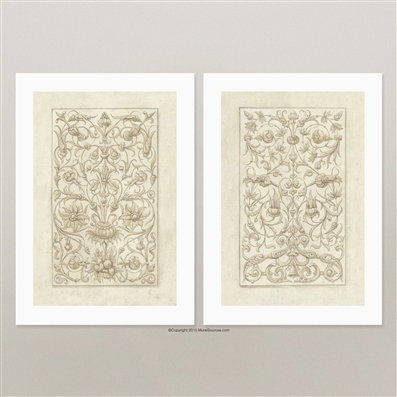 Classical Decorative Ornament prints for framing