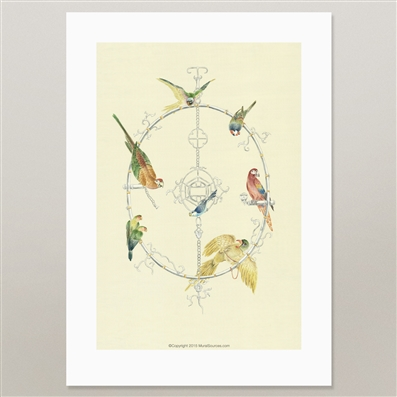 Parrot prints for framing