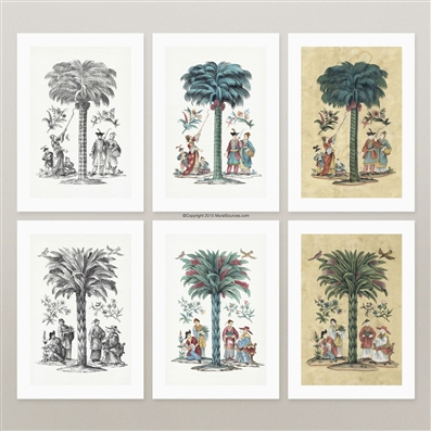 Chinoiserie Palm prints for framing